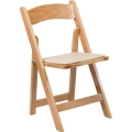 Rental store for CHAIR WOOD NATURAL FOLDING W  CUSHION in Waynesboro VA